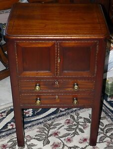 Georgian Period Antique Mahogany 2 Drawer Cabinet Kingston Kingston Area image 5