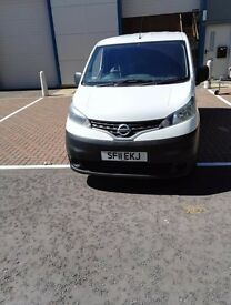 NISSAN NV200 1.5 SE WHITE. diesel low mileage van with 52,400 full service history