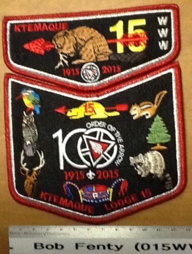 Ktemaque Lodge 15 - Centenial  Anniversary Westchester Putnam OA patch