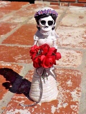 Day Of The Dead Bride With Flowers And Glitter Mexico With Free Shipping