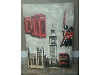 London Painted Canvas