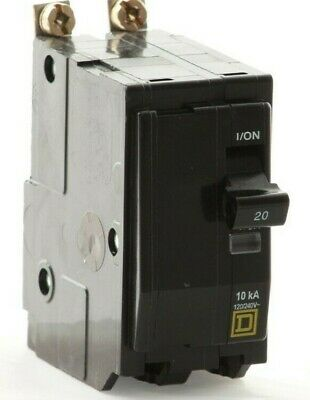 Square D QOB220 20 Amp 240 Volt 2 Pole Twisted Foot Circuit Breaker- WARRANTY