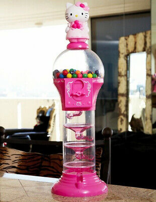 HELLO KITTY Sanrio 2 ft. Pink Gumball Candy Machine, New Free Shipping