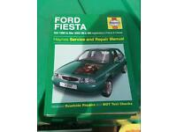 Haynes Manual Ford Fiesta 1995 to 2002