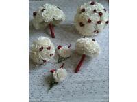 Ivory wedding bridesmaids posy bouquets