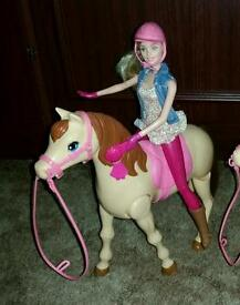Barbie saddle and ride pony