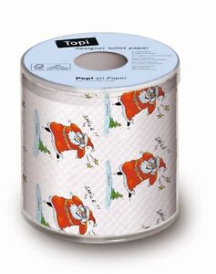 Festive Holiday Toilet Paper Rolls Christmas Father Decorations Bathroom Smile