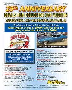 Devils Run Classic Car Auction June 3rd
