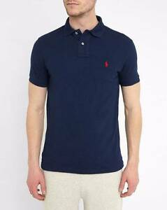 Authentic Ralph Lauren Polo Shirt- French Navy BNWT LARGE Prospect Prospect Area Preview