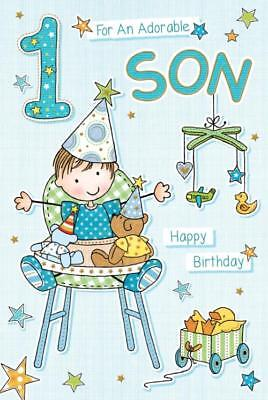 For An Adorable Son Age 1 ~  Luxury 1st Birthday Card - FREE 1ST CLASS POST (Toys For First Birthday)