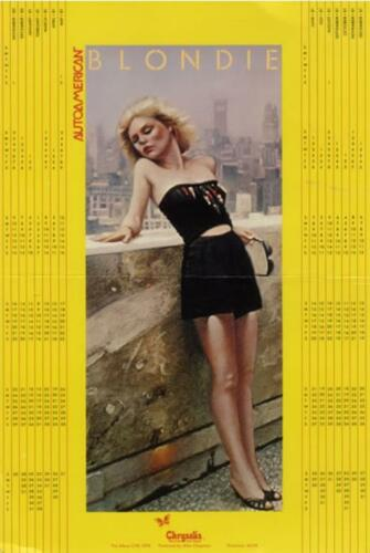 DEBORAH DEBBIE HARRY Of BLONDIE Poster Calendar PROMO 1980 ~ 1981  USA Mint-