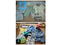 boys summer bundle 3-4 (stripy top) and 4-5 years £8.50 a bundle £15 the lot