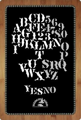 SKULL theme ouija spirit board by Wedgie Bird - just in time for Halloween