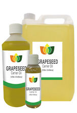 Grapeseed Oil Pure Natural  Base Carrier Massage Oil 10ml - 25L