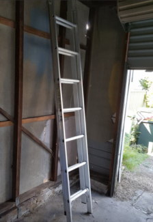 2.43 metres extends to 3.95m Aluminium step Ladder