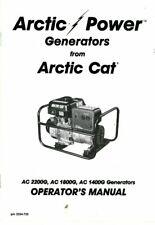 Arctic Cat 1400G 1800G 2200GD Generator Owners Manual