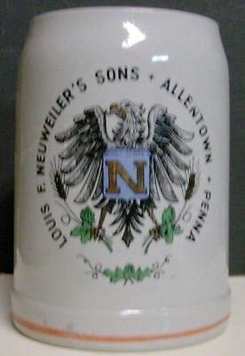 1950's Louis F. Neuweiler's Sons Stoneware Mug - Allentown, PA - 2 Stripes