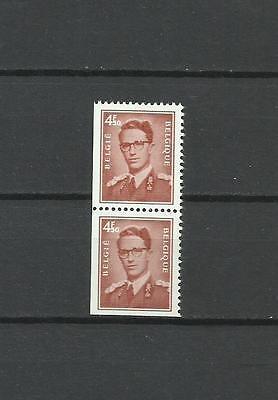 """Belgie: 1659f** zegel uit boekje 9 """"4,50F + 4,50F"""" verticaal. koning Boudewijn I"""