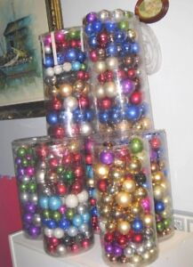 Color Glass Ball Christmas Ornaments 10 sets of100 Pc Each $20ea
