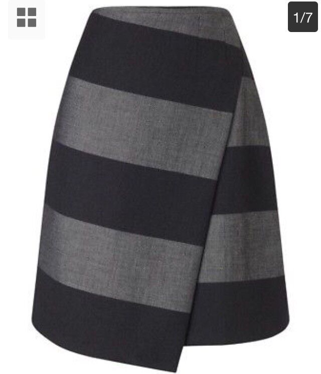 BNWT - Beautiful grey striped Phase Eight skirt - size 8 - RRP £69