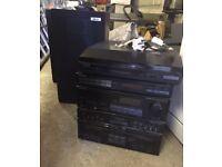 Pioneer stereo system & Akai speakers