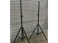 Pair of speaker / lights stand heavy duty tripoid