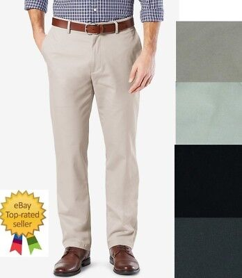 Dockers Mens Pants Best Pressed Straight Fit Flat Front 31 32 33 34 36 38 40
