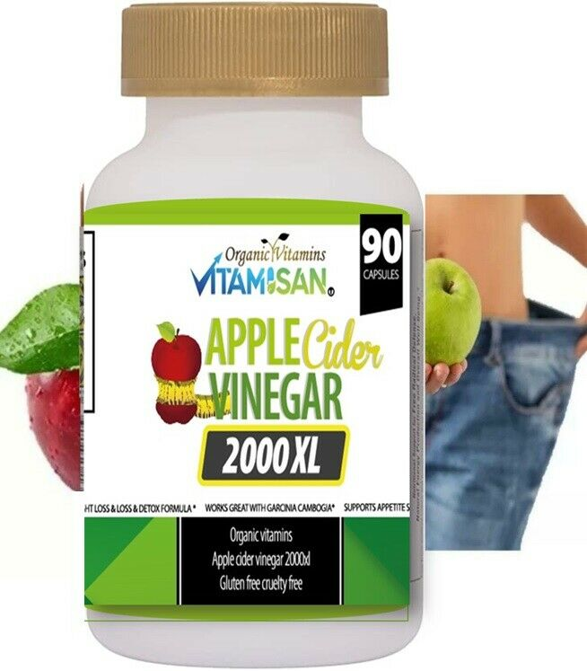 Premium Apple Cider Vinegar Pills 1000mg High Potency Fast Acting 100% Pure orga