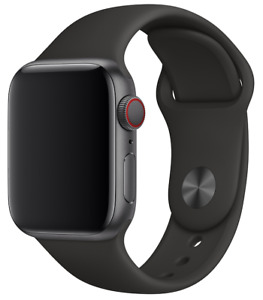 Apple Watch 42mm / 44mm Sport Band - Black with Space Grey Pin