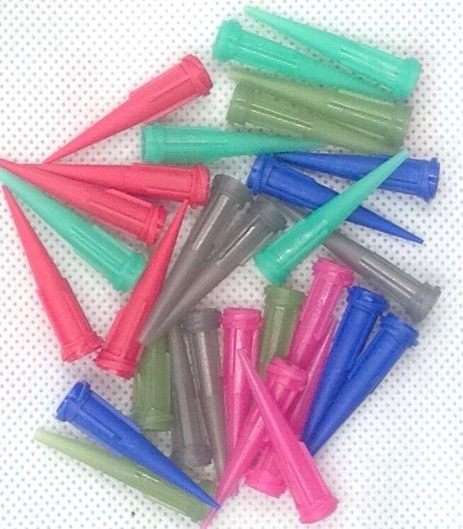 30 x Solder Paste Adhesive Glue Liquid Dispensing Needle Plastic Tapered Tips