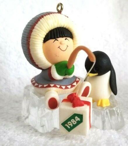 Lot of FOUR FROSTY FRIENDS Christmas Ornaments Eskimo 1984 1989 2010 2000
