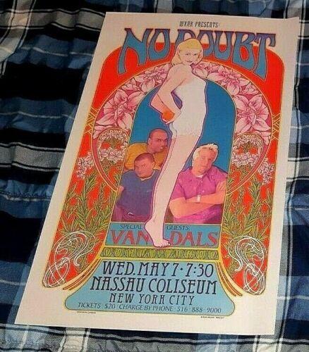 NO DOUBT ORIGINAL CONCERT POSTER BOB MASSE MAY 7TH, 1997 NASSAU COLISEUM WOW!
