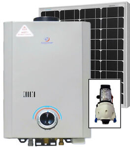 Eccotemp L7 Tankless Water Heater (w/ 12V pump & 50W Solar Kit)