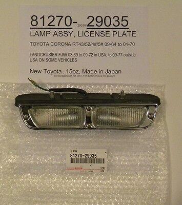 Toyota Corona RT4#/5# & Landcruiser FJ55 81270-29035 License Plate Lamp Assembly