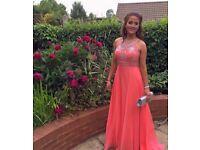 Gorgeous prom dress, blush prom by Alexia, size 8.