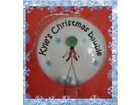 Personalised button CHRISTMAS BAUBLES limited availability