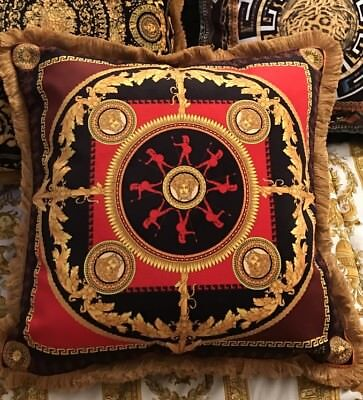 VERSACE PILLOW MEDUSA ICONIC HEROES with TAGS & insert ITALY IN DUST Bag