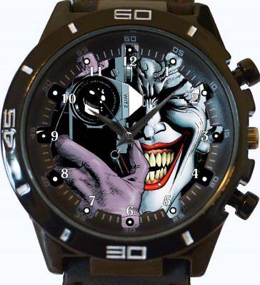 Joker Lächeln Gesicht Komik Stil Neu Gt Serie Sports Unisex Geschenk Armbanduhr