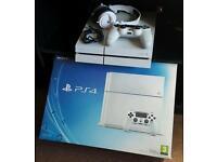 White ps4 console