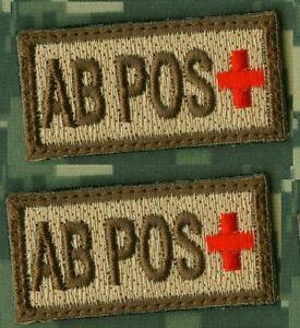 AFG-PAK-NATO-COALITION-TALIZOMBIE-WHACKER-OPERATOR-VELCRO-2TAB-Blood-Type-AB