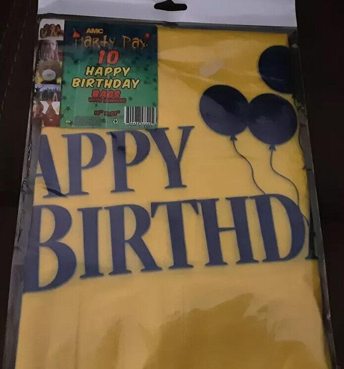 "AMC 16"" X 23"" HAPPY BIRTHDAY BAGS 10 PACK"