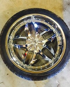Roue Mags wheel Rim Alloy technologies Chrome 24 pouce Ford / Gm