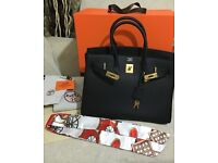 Hermes Birkin 35cm black with gold hardware