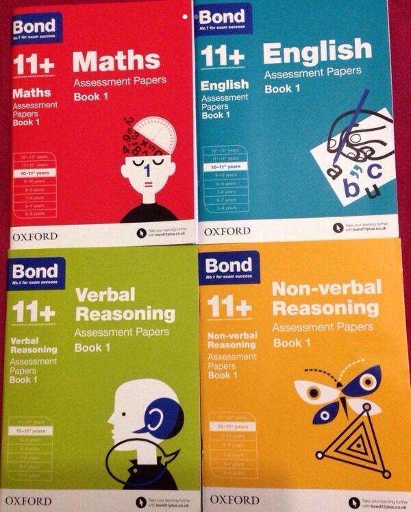 BONDS 11+ ASSESSMENT PAPERS Set of 4