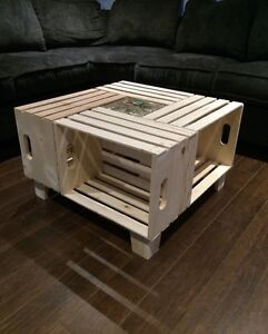 Home Made Apple Crate Coffee Table