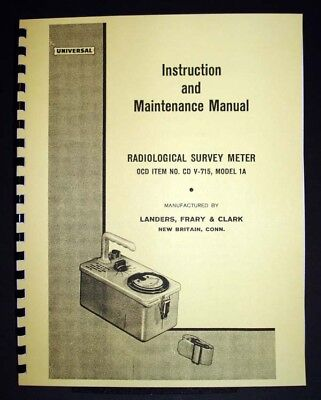 Cd V-715 Model 1a Radiological Survey Meter Manual