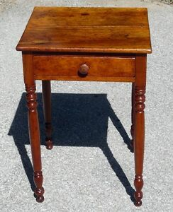 Antique Cherry Lamp Table or Bedside Table
