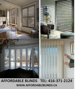 ZEBRA SHADES-FAUX WOOD BLINDS-ROLLER SHADES-VERTICAL BLINDS