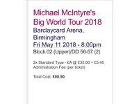 Michael McIntyre Tickets x 2 Birmingham