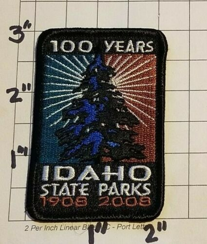 "IDAHO State Parks 100th Anniversary Patch   ""1908-2008""       ***NEW***"